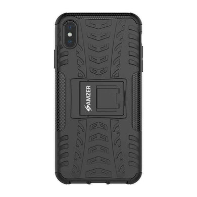 AMZER Shockproof Warrior Hybrid Case for iPhone Xs Max - Black/Black - fommystore