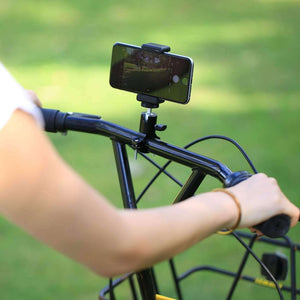Selfie Sticks Tripod Mount Phone Clamp With 1/4 inch Screw Hole - Black - fommystore