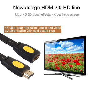AMZER® 0.5m HDMI 2.0 Version 4K HDMI Male to HDMI Female Audio Video Adapter Extension Cable -Black - fommystore