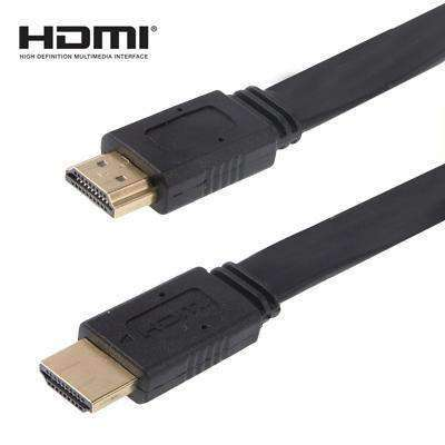 AMZER® 1.5m HDMI to HDMI 19Pin Flat Cable, 1.4 Version, Support HD TV, XBOX 360, DVD Player - Black - fommystore