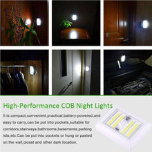Load image into Gallery viewer, AMZER Mini White Light COB LED Wall Light Switch Night Light Lamp - White - fommystore