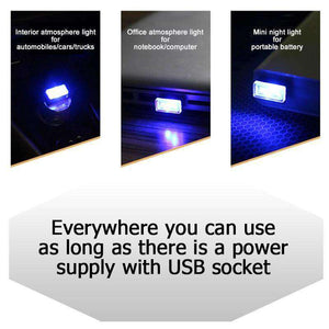 AMZER® Universal USB LED Atmosphere Lights Emergency Lighting Decorative Lamp - White - fommystore