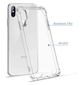 AMZER Pudding TPU Soft Skin X Protection Case for iPhone Xs Max - Crystal Clear - fommystore