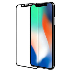 AMZER Kristal 9H Tempered Glass Edge2Edge Protector for iPhone Xs Max - Black - fommystore