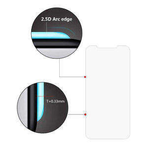 Case Friendly 2.5D Curved Anti Shatter Scratch and Impact Resistant 0.3MM Tempered Glass Screen Protector for iPhone Xs Max/ iPhone 11 Pro Max - Clear - fommystore