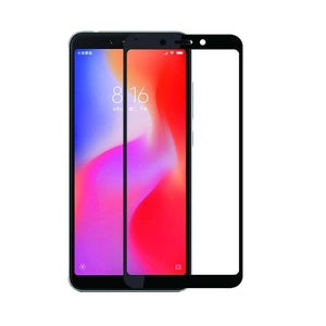 AMZER Kristal 9H Tempered Glass Edge2Edge Protector for Xiaomi Redmi 6 - Black - fommystore