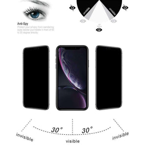 AMZER 9H Case friendly Privacy 3D Tempered Glass Screen Protector for iPhone Xr - fommystore