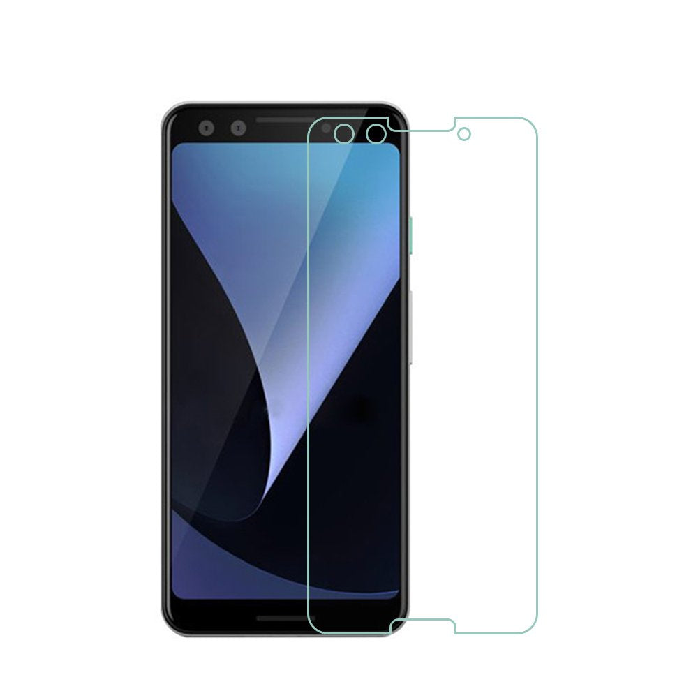 AMZER Anti Scratch 9H Tempered Glass Screen Protector for Google Pixel 3 - Clear - fommystore