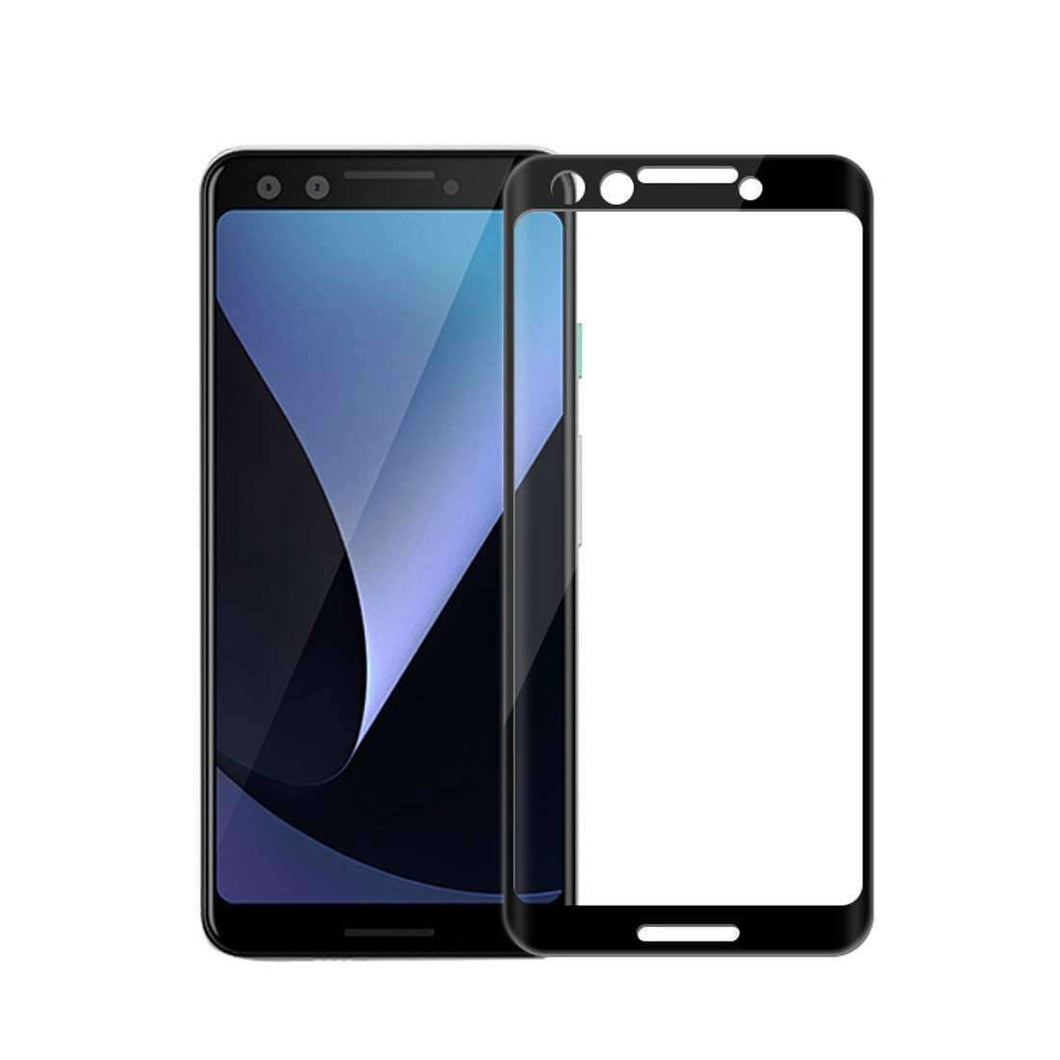 AMZER 9H Curved 3D Edge2edge Tempered Glass for Google Pixel 3 - Black - fommystore
