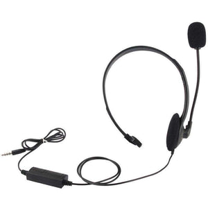 AMZER 3.5 mm Wired Gaming Mono Headphone With Mic and Volume Control - Black - fommystore