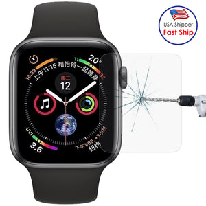 AMZER 0.2mm 9H Tempered Glass for Apple Watch Series 4 44mm - Clear