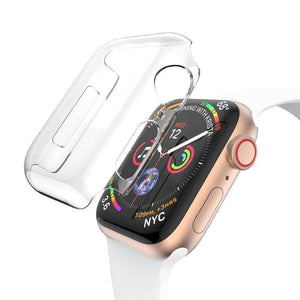 AMZER® Full Coverage PC Hard Case - Clear for Apple Watch Series 4 40mm - fommystore