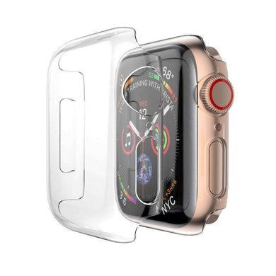 AMZER® Full Coverage PC Hard Case - Clear for Apple Watch Series 4 44mm - fommystore