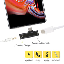 Load image into Gallery viewer, 2 in 1 USB Type C Female to USB Type C Male Mini Audio & Charge Adapter Splitter - fommystore