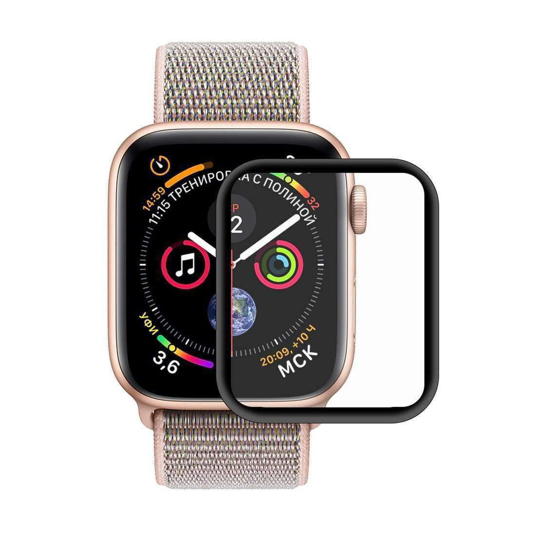 AMZER 3D Full HD Screen Protector for Apple Watch Series 5 40mm - Black - fommystore