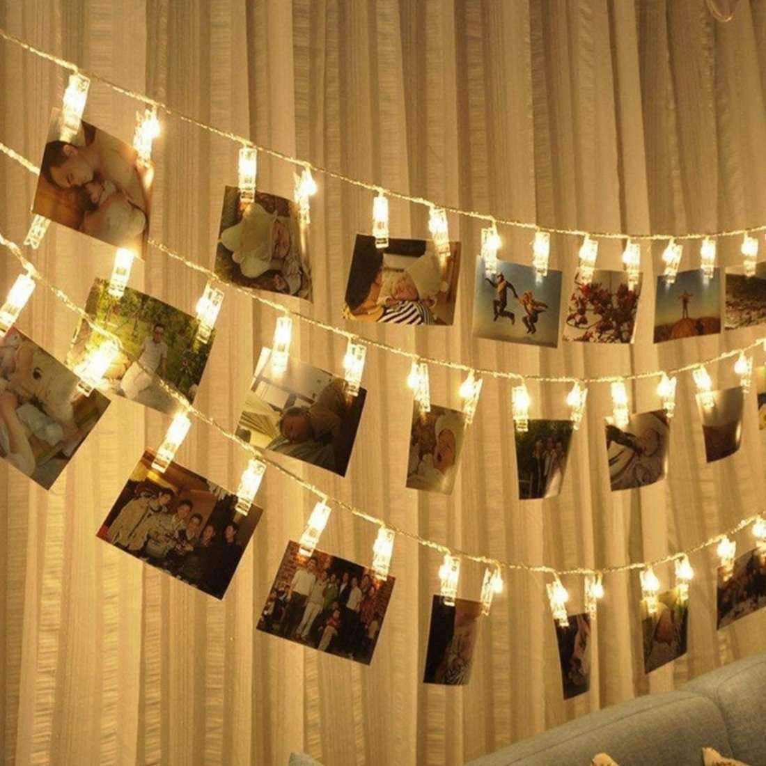 Photo clip String LED Lights | Fommy