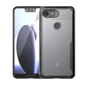 AMZER SlimGrip Hybrid Bumper Case for Google Pixel 3 - Black - fommystore