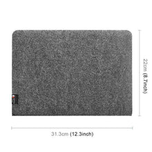 Load image into Gallery viewer, AMZER Portable Stylish Business Felt Sleeve Bag Protective Case for MacBook 13.3 inch - Dark Gray - fommystore