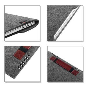 AMZER Portable Stylish Business Felt Sleeve Bag Protective Case for MacBook 13.3 inch - Dark Gray - fommystore