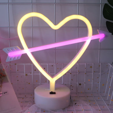 AMZER Neon LED Holiday Light with Holder, Warm Fairy Decorative Lamp Night Light for Christmas, Wedding, Party, Bedroom