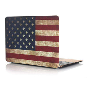 AMZER American Flag Laptop Water Stick Style Protective Case for MacBook Air 13.3 inch A1932 (2018) - fommystore