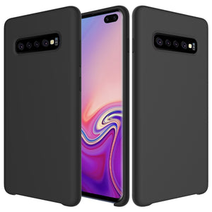 AMZER Silicone Soft Skin Jelly Case for Samsung Galaxy S10+ - Black