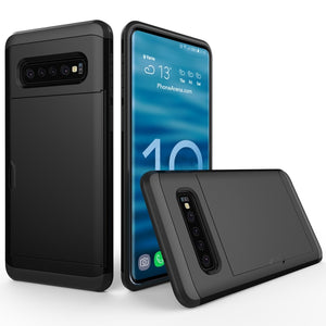AMZER Shockproof Hybrid Case With Card Slot for Samsung Galaxy S10+