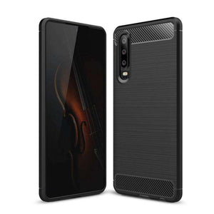 AMZER Rugged Armor Carbon Fiber Design ShockProof TPU for Huawei P30
