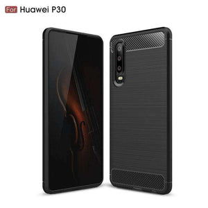 AMZER Rugged Armor Carbon Fiber Design ShockProof TPU for Huawei P30 - fommystore