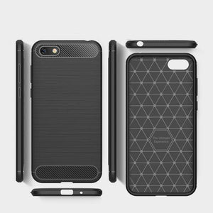 AMZER Rugged Armor Carbon Fiber Design ShockProof TPU for Huawei Y5 Prime 2018 - fommystore