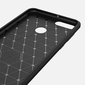 AMZER Rugged Armor Carbon Fiber Design ShockProof TPU for Huawei Enjoy 8 Plus, Huawei Y9 (2018) - fommystore