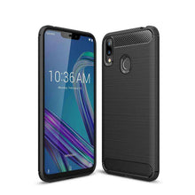 Load image into Gallery viewer, AMZER Rugged Armor Carbon Fiber Design ShockProof TPU for ASUS ZenFone Max (M2) - fommystore