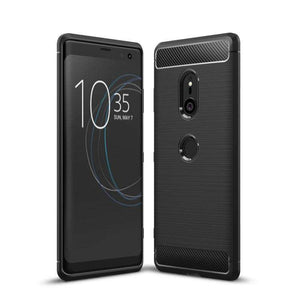 AMZER Rugged Armor Carbon Fiber Design ShockProof TPU for Sony Xperia XZ3