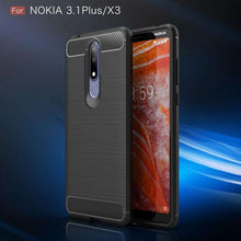 Load image into Gallery viewer, AMZER Rugged Armor Carbon Fiber Design ShockProof TPU for Nokia 3.1 Plus, Nokia X3 - fommystore