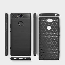 Load image into Gallery viewer, AMZER Rugged Armor Carbon Fiber Design ShockProof TPU for Sony Xperia XA2 Plus - fommystore