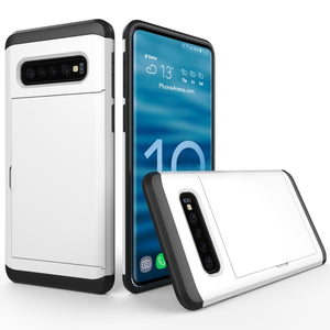 AMZER Shockproof Hybrid Case With Card Slot for Samsung Galaxy S10+ - fommystore