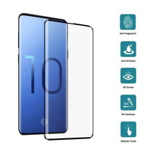 Load image into Gallery viewer, AMZER 9H Edge2Edge 3D Tempered Glass Screen Protector for Samsung Galaxy S10 - Black - fommystore