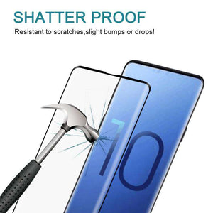 AMZER 9H Edge2Edge 3D Tempered Glass Screen Protector for Samsung Galaxy S10 - Black - fommystore