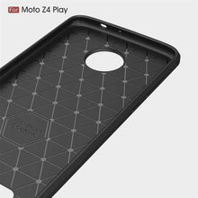 Load image into Gallery viewer, AMZER Rugged Armor Carbon Fiber Design ShockProof TPU for Motorola Moto Z4 Play - Black - fommystore