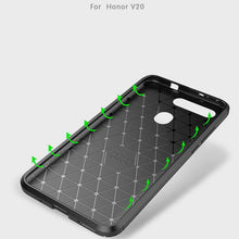 Load image into Gallery viewer, AMZER Hybrid Carbon Fiber Texture TPU Case for Huawei Honor V20 - Black - fommystore