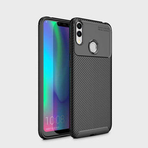 AMZER Hybrid Carbon Fiber Texture TPU Case for Huawei Honor 8C - Black