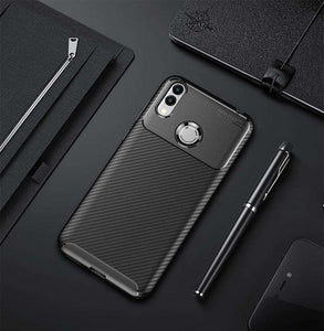 AMZER Hybrid Carbon Fiber Texture TPU Case for Huawei Honor 8C - Black - fommystore