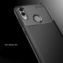 Load image into Gallery viewer, AMZER Hybrid Carbon Fiber Texture TPU Case for Huawei Honor 8C - Black - fommystore