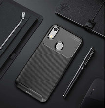 Load image into Gallery viewer, AMZER Hybrid Carbon Fiber Texture TPU Case for Huawei Honor 8A - Black - fommystore