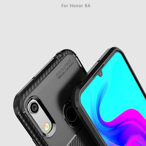 AMZER Hybrid Carbon Fiber Texture TPU Case for Huawei Honor 8A - Black - fommystore