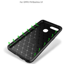 Load image into Gallery viewer, AMZER Hybrid Carbon Fiber Texture TPU Case for Oppo Realme U1 / Oppo F9 - Black - fommystore