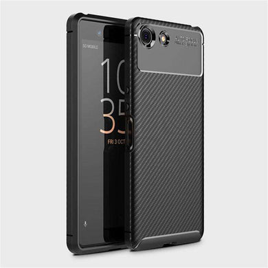 AMZER Hybrid Carbon Fiber Texture TPU Case for Sony Xperia XZ4 Compact - Black - fommystore