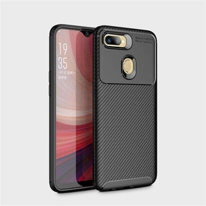AMZER Hybrid Carbon Fiber Texture TPU Case for Oppo A7 - Black