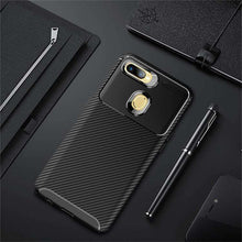Load image into Gallery viewer, AMZER Hybrid Carbon Fiber Texture TPU Case for Oppo A7 - Black - fommystore