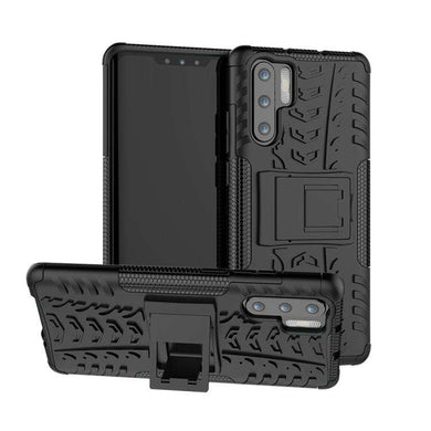 AMZER Hybrid Warrior Kickstand Case for Huawei P30 Pro - Black/ Black - fommystore